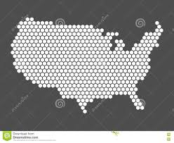 Map Of United States Vector by Abstract Usa Map Of Hexagons Stock Vector Image 78370772