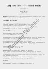 Substitute Teacher Resume Example by Substitute Teacher Responsibilities Resume Free Resume Example