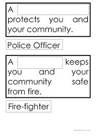 13 free esl community helpers worksheets