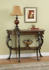 Unique Entryway Tables Powell Masterpiece Horsehead Floral Demilune Console Table 416 225