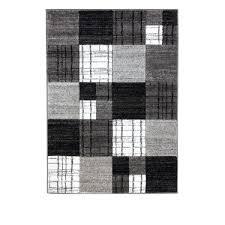 Modern Runner Rugs For Hallway Squares Grey And Black Modern Runner Rug