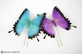 butterfly hair purple and blue butterfly hair pins hana scibetta
