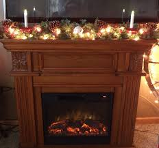 christmas fireplace mantle garland swag pine garland