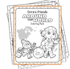 free dora coloring pages frugal adventures