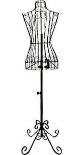 Female Black Steel Wire Mannequin Dress Form 32
