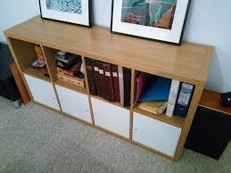 Ikea Kallax Expedit 4x2 Oak Shelves With Cupboard Inserts Kallax Bureau