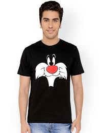 sylvester t shirt buy the souled store unisex black printed looney tunes sylvester