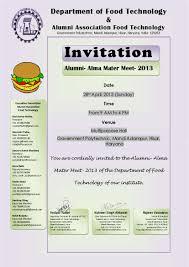 Alumni Meet Invitation Card Invitation Card Jpg
