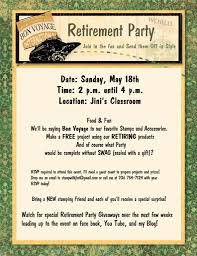 9 best images of retirement party flyer template retirement