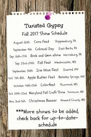 show schedule twisted gypsy