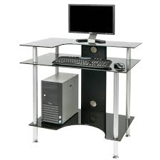 White Glass Computer Desk by How To Make Your Boring Small White Computer Desk Interesting