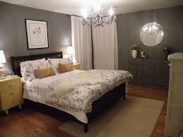 Wall Mirrors For Bedroom by Simple Gray Bedroom Color Scheme With Wall Mirror And Floral