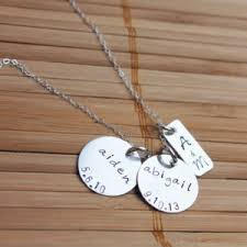 Necklaces With Children S Names Family Necklace Couple U0027s Initials And Anniversary Date With
