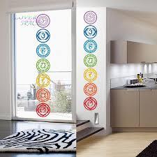 Meditation Home Decor Aliexpress Com Buy 19x19cm 7pcs Set Chakras Vinyl Wall Stickers