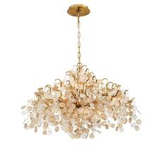 Gold Chandelier Light Eurofase Cobasso 8 Light Gold Chandelier With Glass Wafers