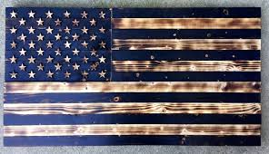 wooden united states wall wooden american flag charred flag vintage flag rustic