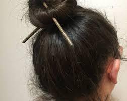 chopstick hair set of 2 hair sticks blue to yellow hair chopsticks hair