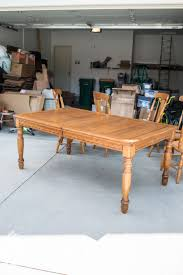 refinishing a factory table part 1 miss mustard seed