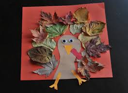 fall turkey craft with leaves mommyapolis