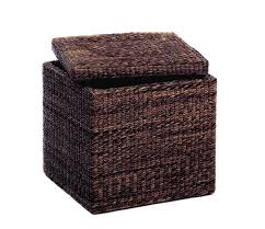 furniture chas coffee brown pier one ottoman with nailhead trim