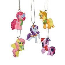 hasbro 5 pack mini ornament gift set my pony