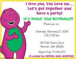 ebluejay barney friends birthday party invitations