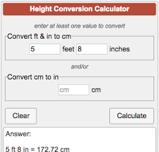 8 feet in inches height converter ft to cm and cm to in
