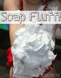 soap fluff sensory play the imagination tree