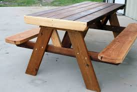 Wood Picnic Table Plans Free by Wood Rustic Picnic Tables Plans Design Ideas And Decor