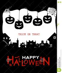 halloween horror background halloween design pumpkins and houses black and white horror
