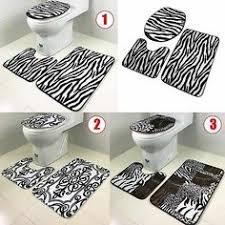 Non Slip Bath And Pedestal Mats Blue Bath Mat Set Bath Mat Pedestal Mat Toilet Seat Cover 3