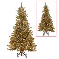 national tree company 5 ft powerconnect frosted mountain fir
