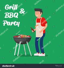jeep grill logo vector man cooking meat grill barbecue party stock vector 463374488