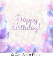 vectors illustration of happy birthday card decoration ready for