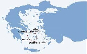 Map Of Santorini Greece by 10 Days Santorini Mykonos Milos Travel Zone