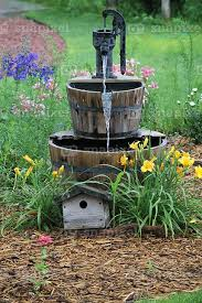 l with water fountain base replace fake waterfall w an old hand pump mounted on a high desert