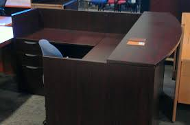 Metal Reception Desk New Offices To Go Reception Desk 799 Assembled At Quality Used