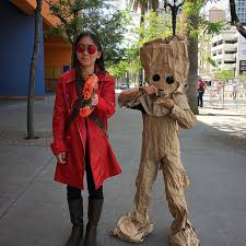groot costume svcc day 3 paper bag baby groot was a smash hit at one point a