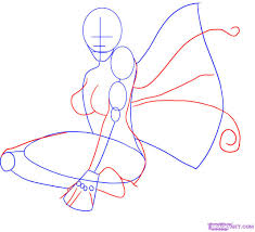 how to draw a fairy face how to draw a fairy tattoo step by
