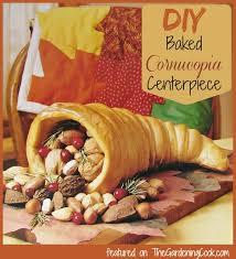 cornucopia centerpiece diy baked cornucopia centerpiece the gardening cook