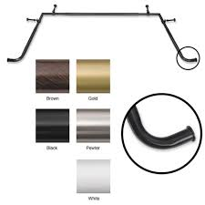 5 8 inch diameter adjustable bay window rod set window rods bay
