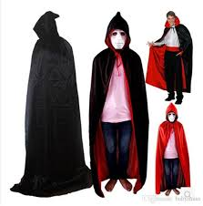 Vampire Cape 2017 Halloween Costume Party Cape Red Collar Double Layer Vampire