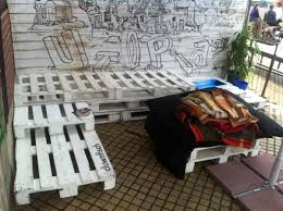 pallet outdoor bench and table utopiastadt wuppertal pallet