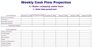 13 week cash flow statement