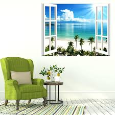 wall ideas wall mural stickers wall decor stickers for nursery wall mural decals for nursery wall decor stickers for nursery wall mural stickers for kids rooms small wall stickers tropical sea beach trees decals 3d