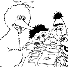 free sesame street fire safety coloring pages activity booklet