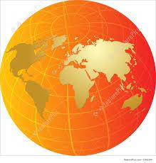 World Map Globe by Map Of The World On Globe Illustration