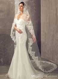 wedding veils 2017 custom made one layers bridal veils with ribbon edge comb