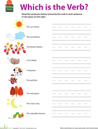 Verb Worksheets Get Into Grammar Which Is The Verb Worksheet Education Com