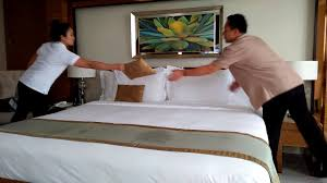 house keeping actual housekeeping in a 4 star hotel step by step bed making